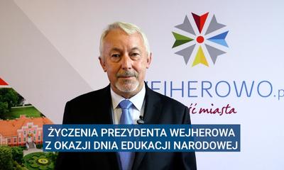 Życzenia Prezydenta Wejherowa z okazji Dnia Edukacji Narodowej (2020)