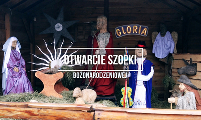 Otwarcie szopki bożonarodzeniowej na wejherowskim rynku