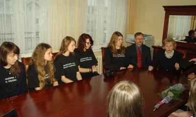 Młodzieżowa Rada Miasta - spotkanie z Krystyną Kłosin - 01.01.2013