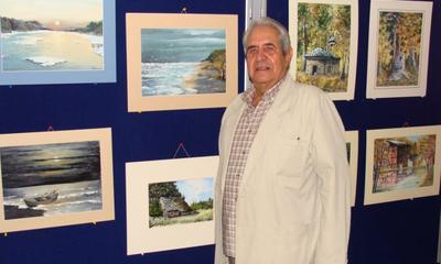Wystawa obrazów Tadeusza Podgórskiego w bibliotece - 20.07.2011