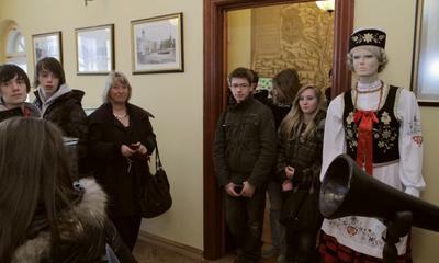 Wizyta młodzieży francuskiej w ratuszu - 31.03.2011