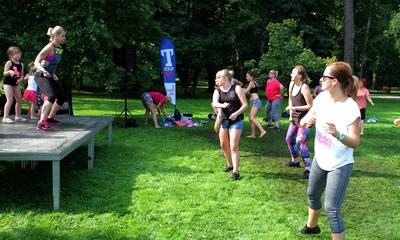 Maraton Zumby w wejherowskim parku