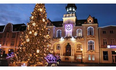 Iluminacje świetlne w Wejherowie-centrum