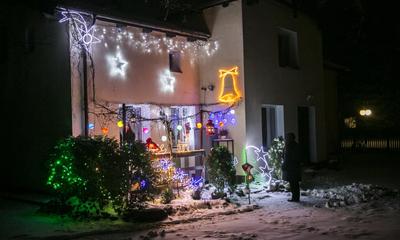 Laureaci konkursu na najbardziej atrakcyjną dekorację świąteczną balkonu, okna lub ogrodu